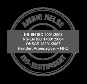 Stempel av ISO-sertifisering. Illustrasjon.